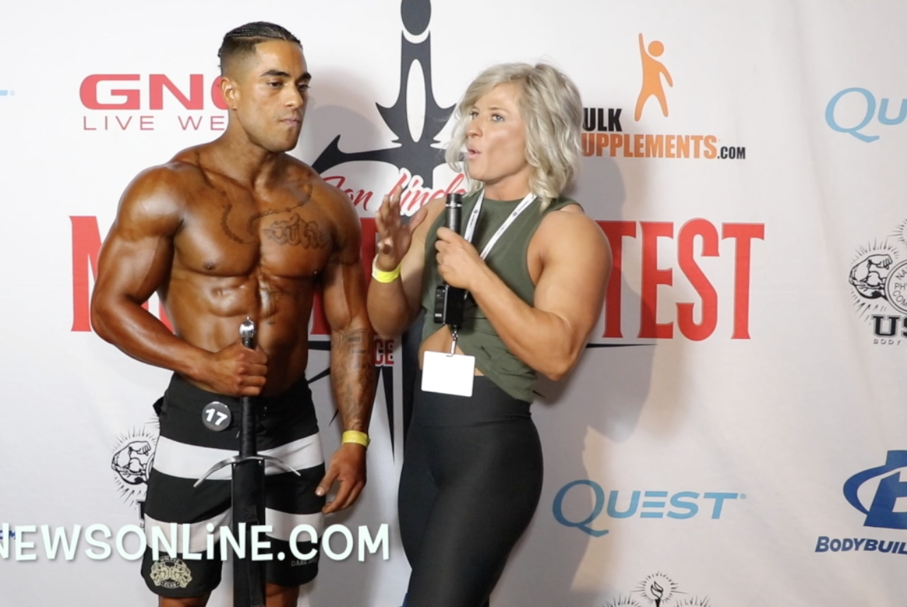 2018 NPC Muscle Contest Challenge Men's Physique Winner Loui Lagunes