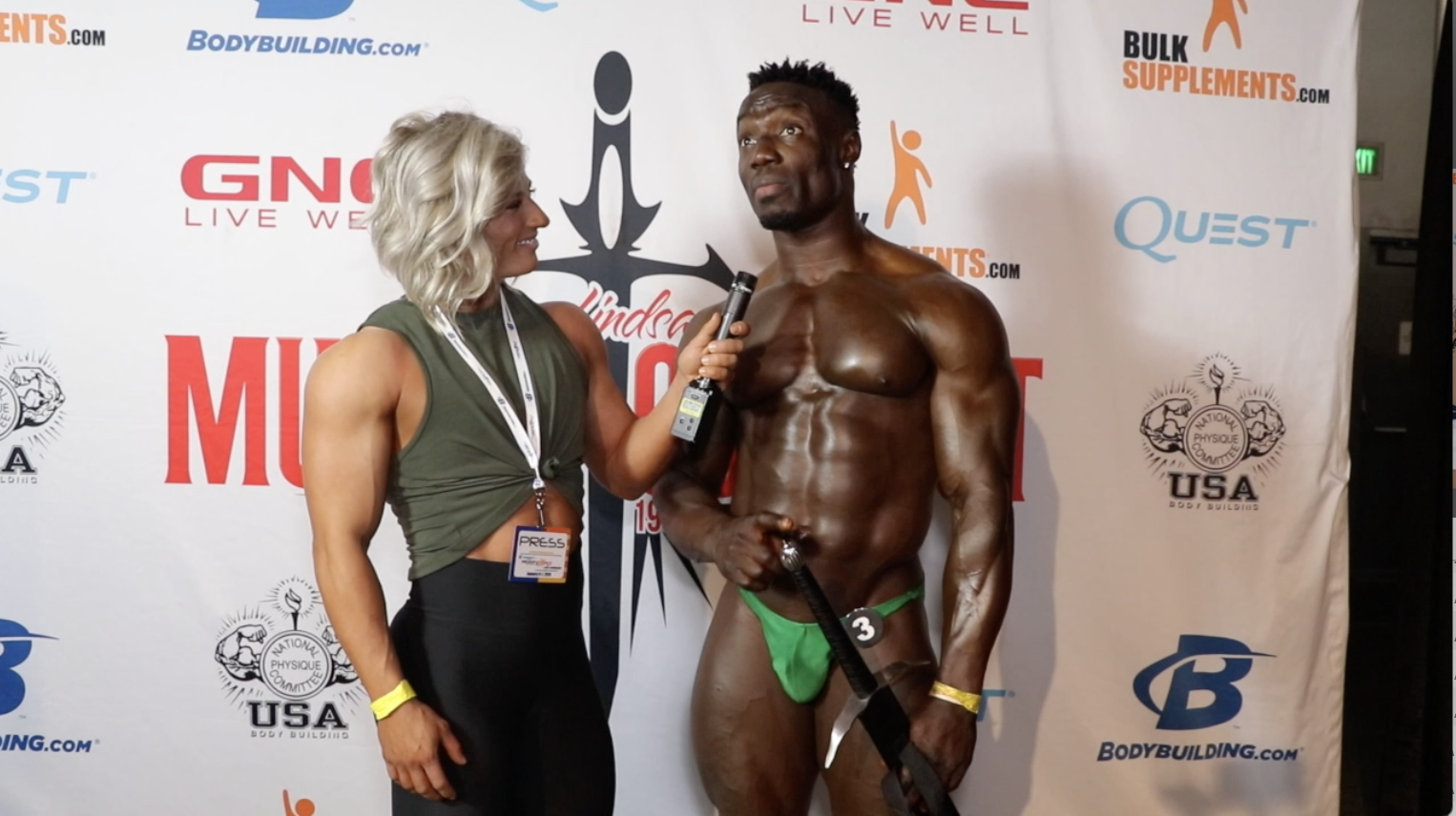 2018 NPC Muscle Contest Challenge Bodybuilding Winner Prince Bada Lekan Contest Video