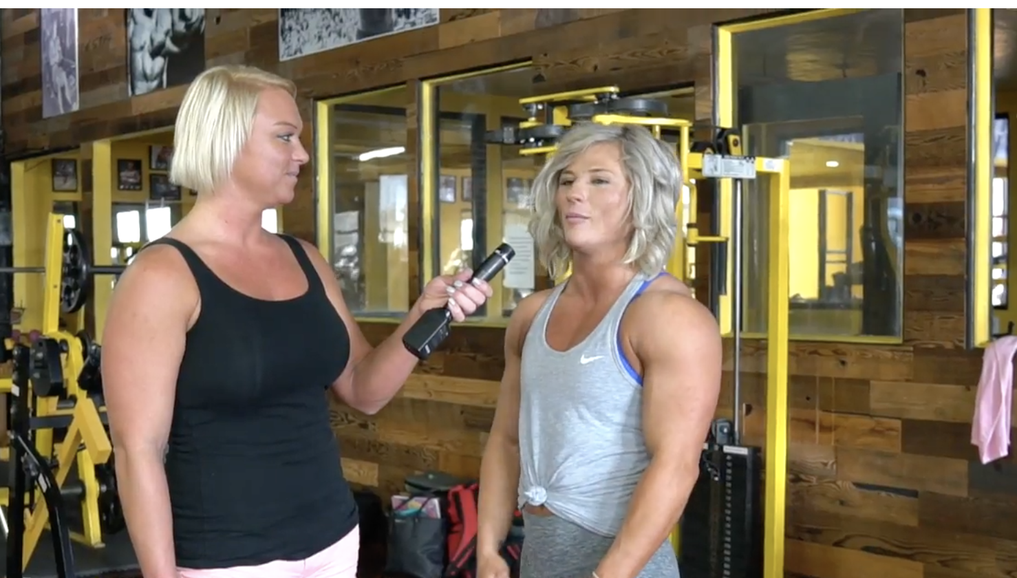 2018 IFBB Women's Physique Pro Brooke Walker Interview At Fit Nation Gym