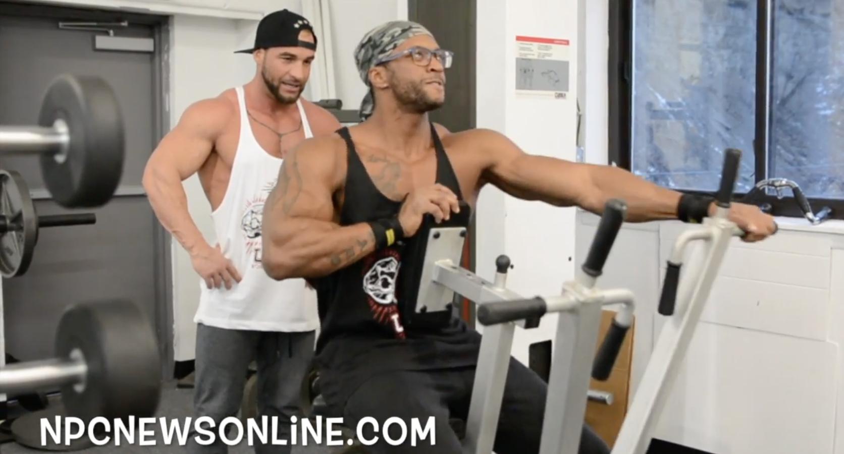 2018 IFBB Pro Raymont Edmonds & NPC Competitor Aladino DiNardo Delts/Traps Workout