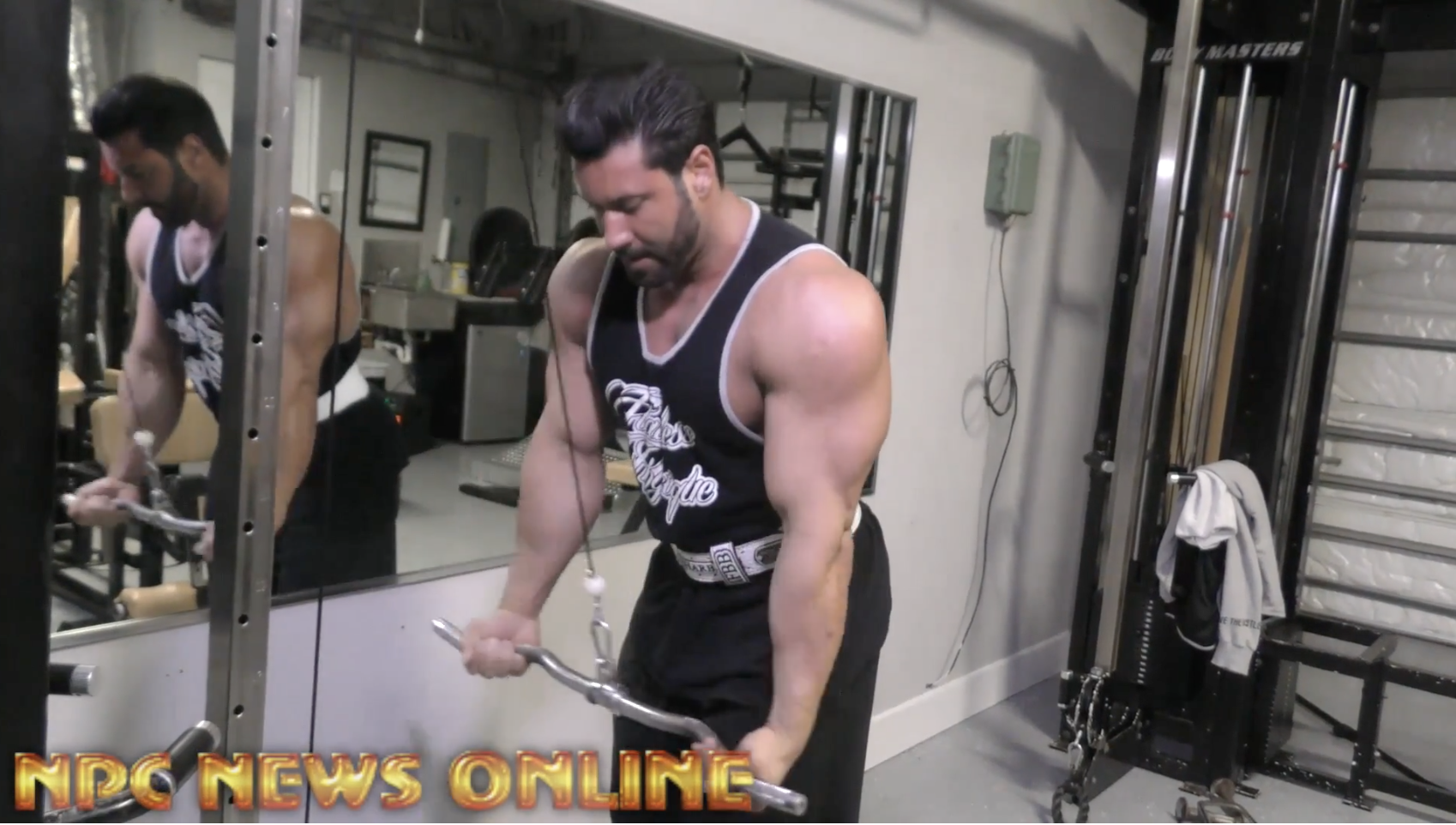 IFBB Classic Pro Steve Mousharbash Shares A Workout With Travales Blount At His Home Gym