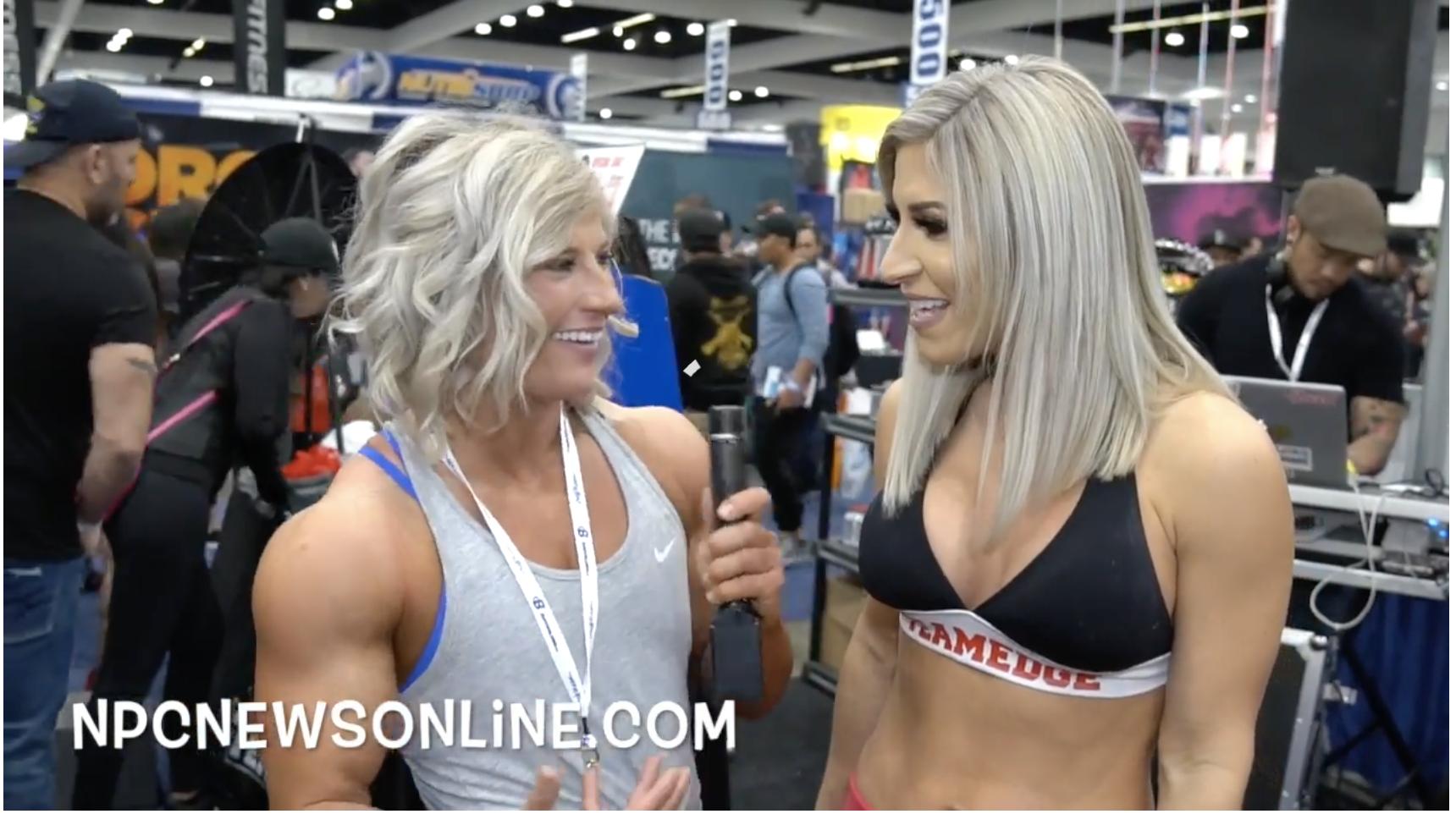Bikini Pro Ingrid Romero interview AT 2018 LA Fit Expo By IFBB Women's Physique Pro Brooke Walker