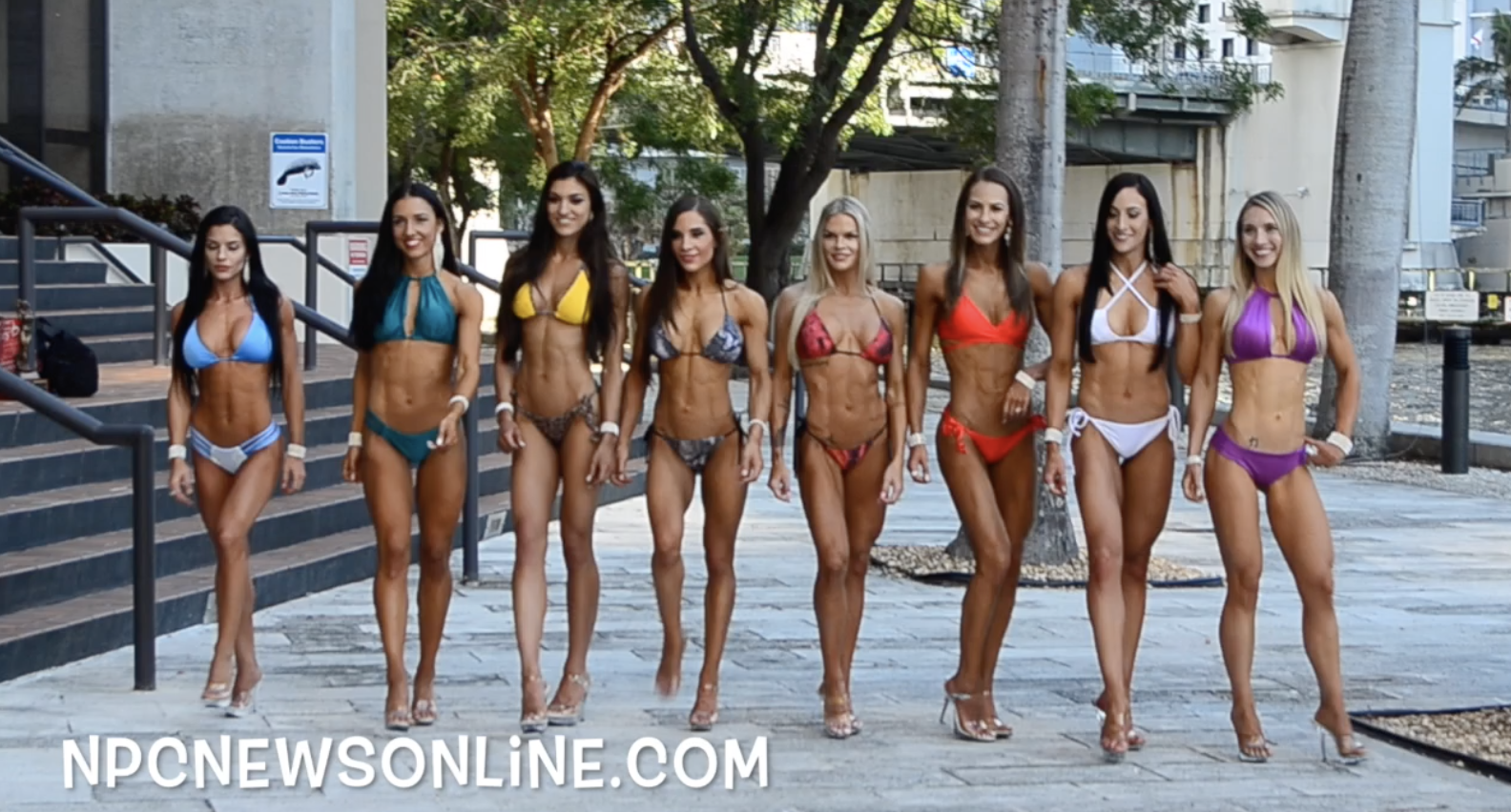 2017 J.M. Manion  NPC Nationals Sunday Bikini Winners Shoot Video