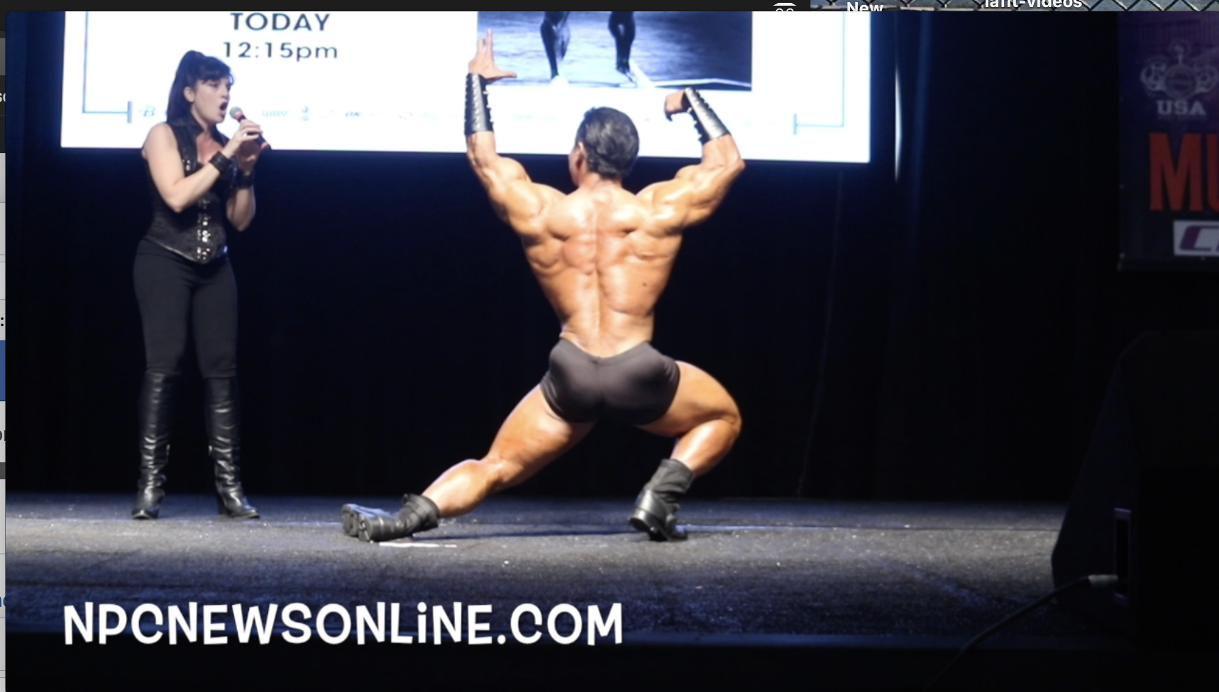 Mr.Classic Physique Olympia Champion Danny Hester Guest Posing At The 2018 LA Fit Expo.