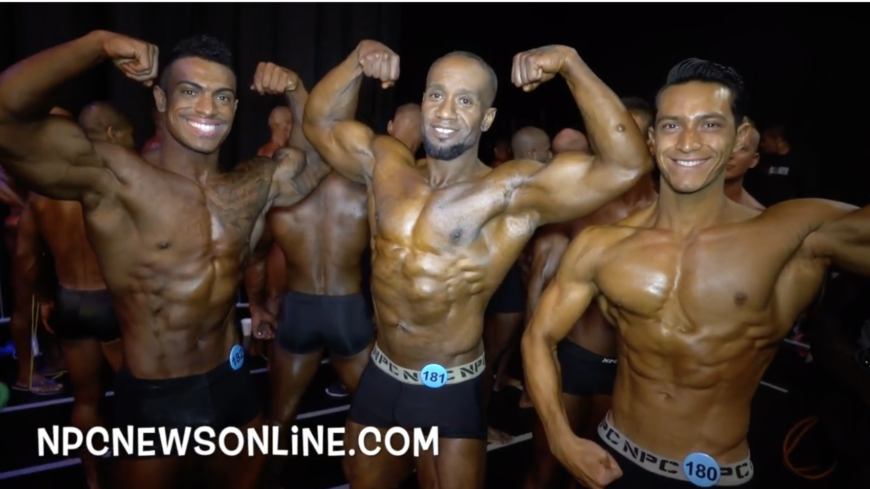 2017 NPC Amateur Olympia Men's Backstage Video: Las Vegas Nevada.