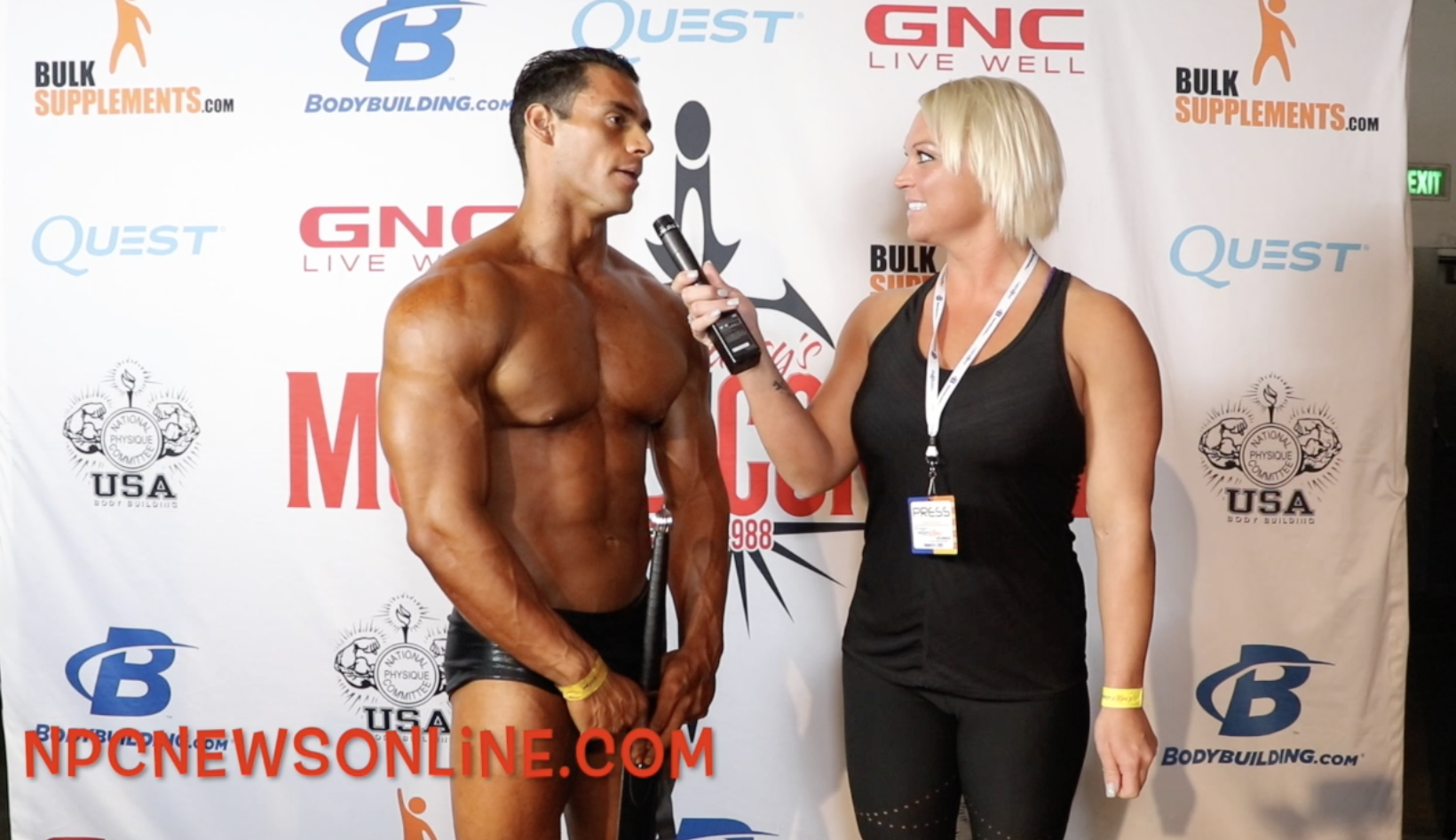 2018 NPC Muscle Contest Challenge Classic Physique Winner Alan Garcia Contest Video
