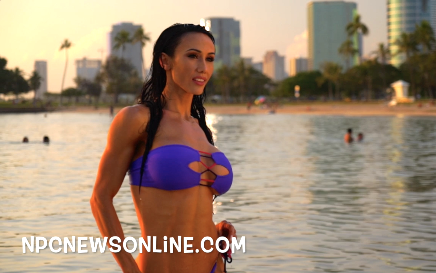 J.M.Manion Hawaii Shoot: IFBB Pro Bikini Competitor Francesca Lauren Video