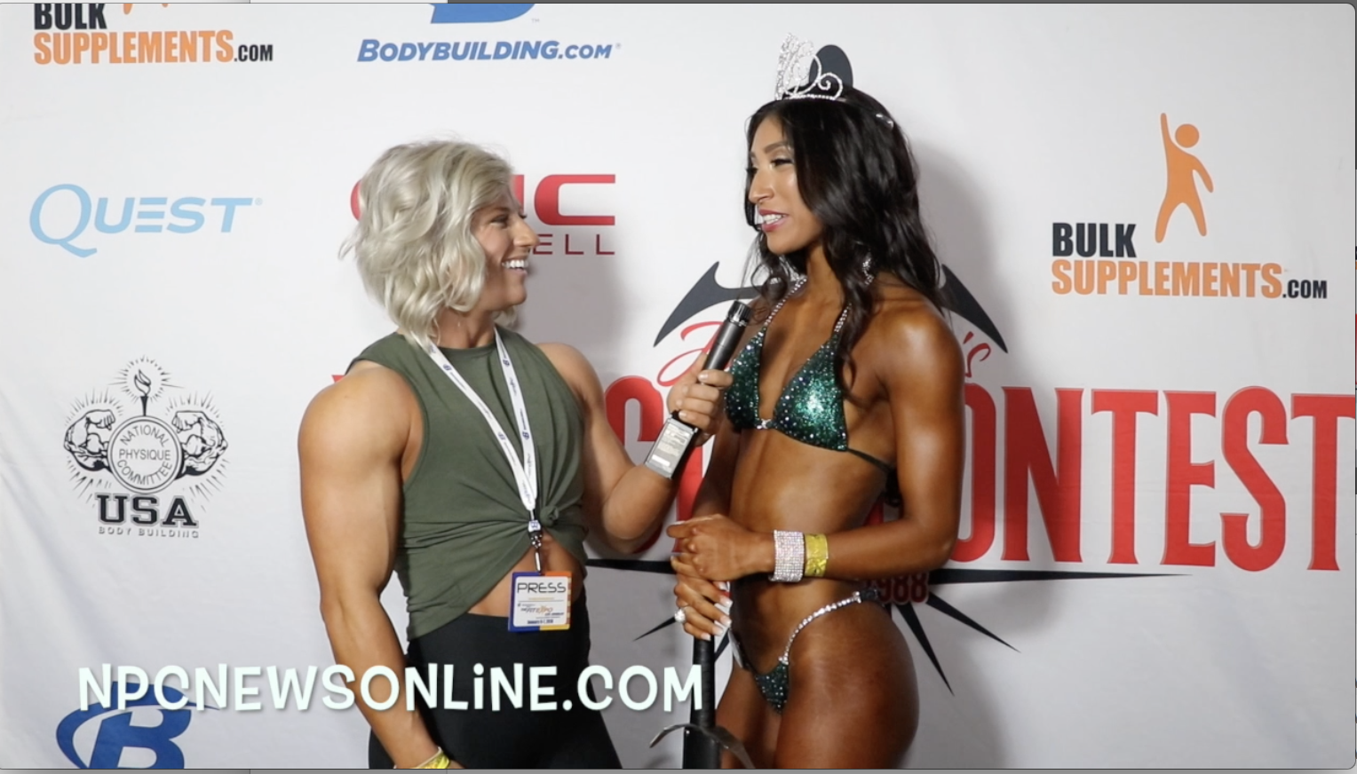 2018 NPC Muscle Contest Challenge Bikini Winner Lyzette Gonzalez Contest Video