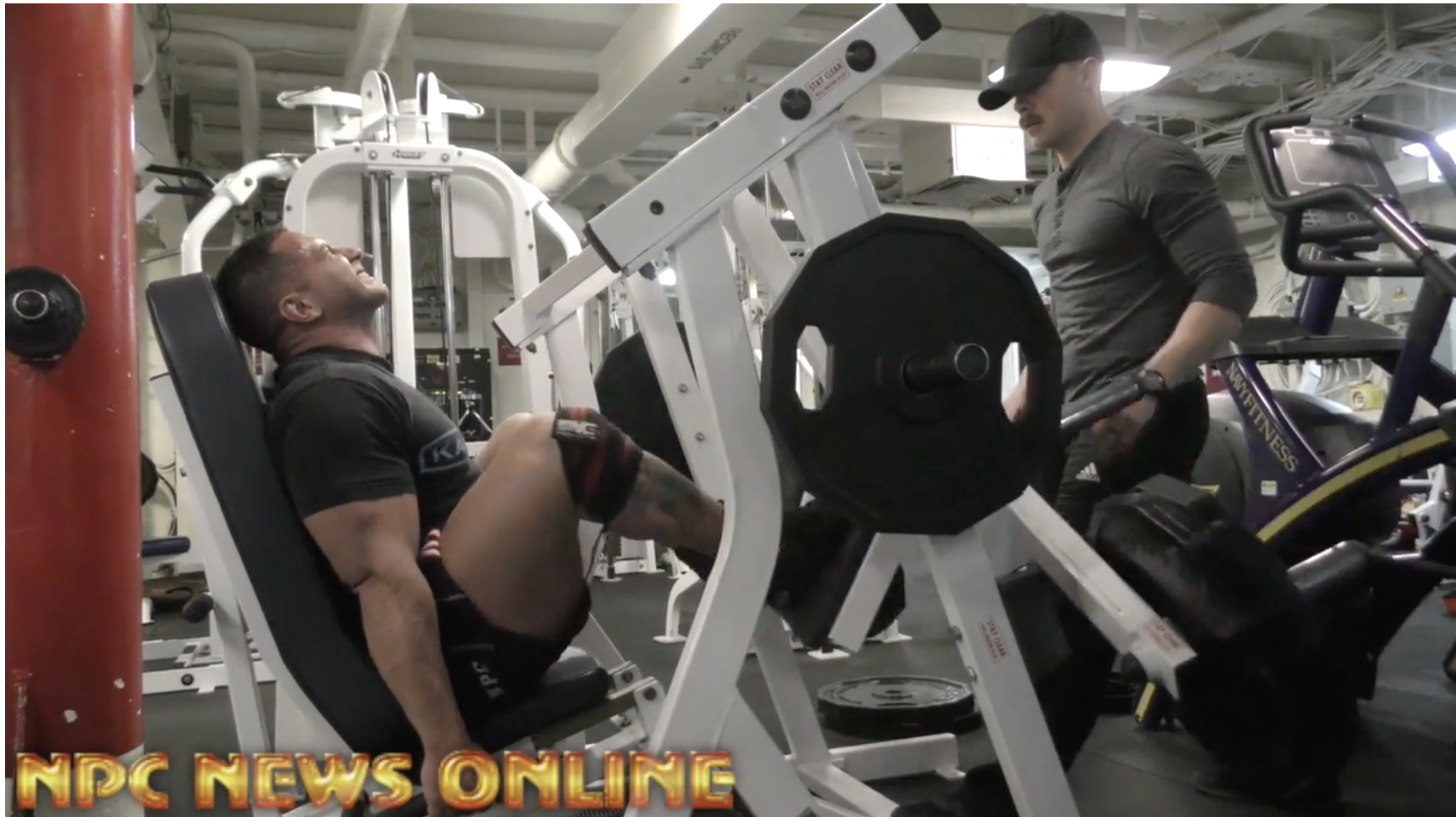Domenick Dibenedetto, IFBB Classic Physique Pro gets in a leg workout and shares his story aboard the USS Iwo Jima