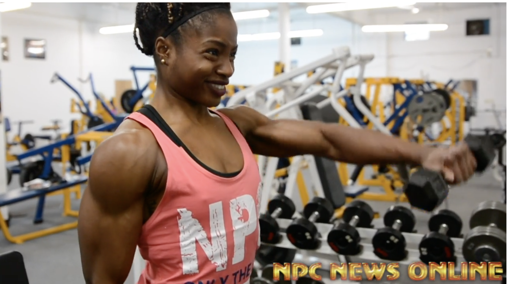 IFBB Figure Olympia Champ Cydney Gillon Shoulder Workout Video: Road to the 2018 Arnold.  Filmed By J.M. Manion At The NPC Photo Gym.