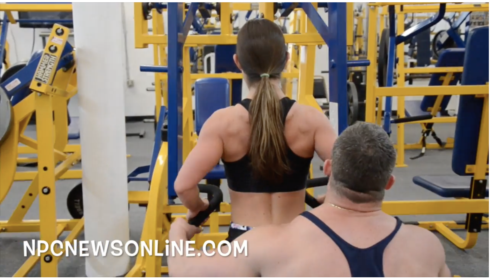 IFBB Fitness Pro Sara KovachBack Workout Video With Bill Sienerth