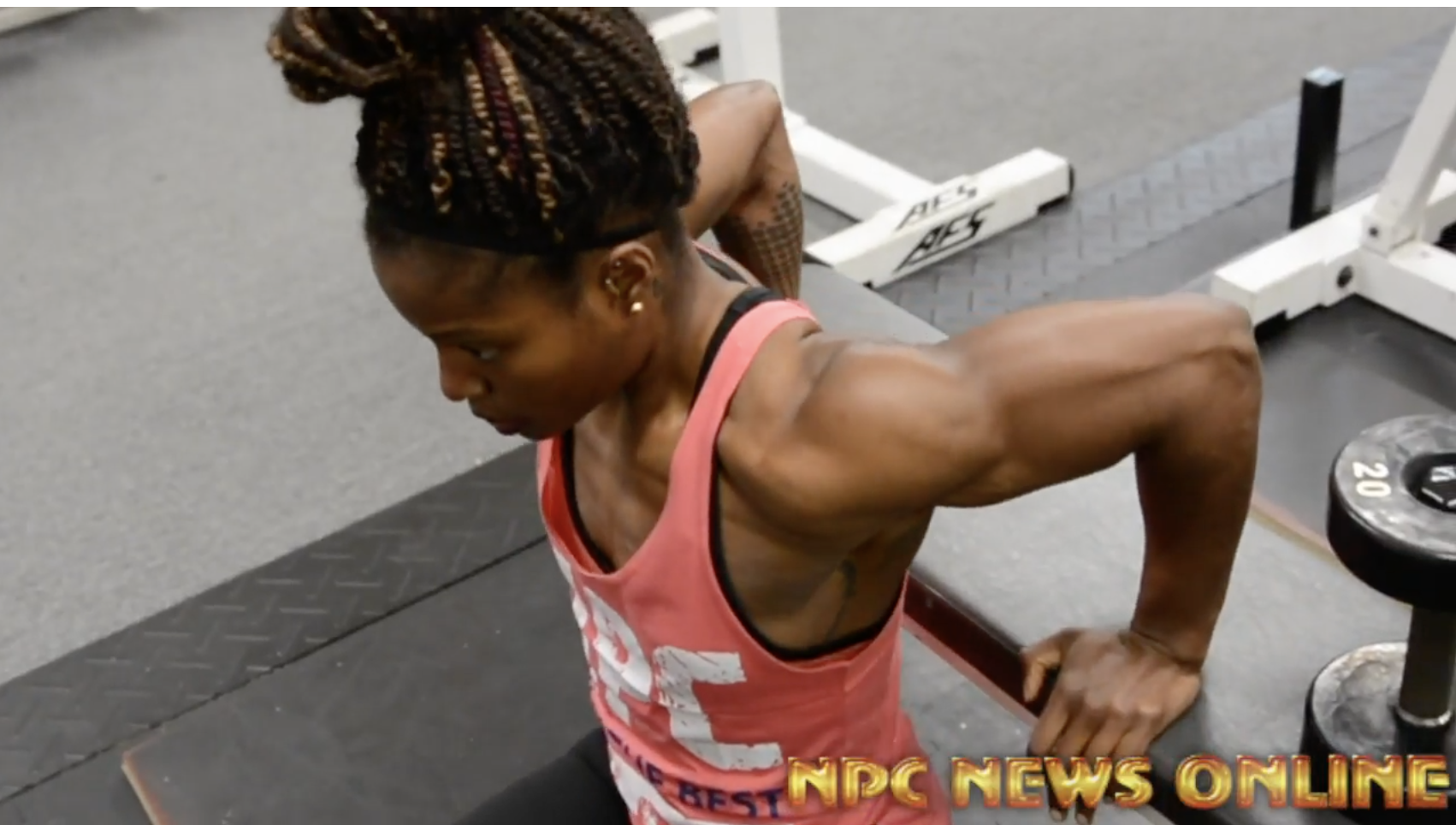 IFBB Figure Oympia Champ Cydney Gillon Chest/Triceps Workout Video