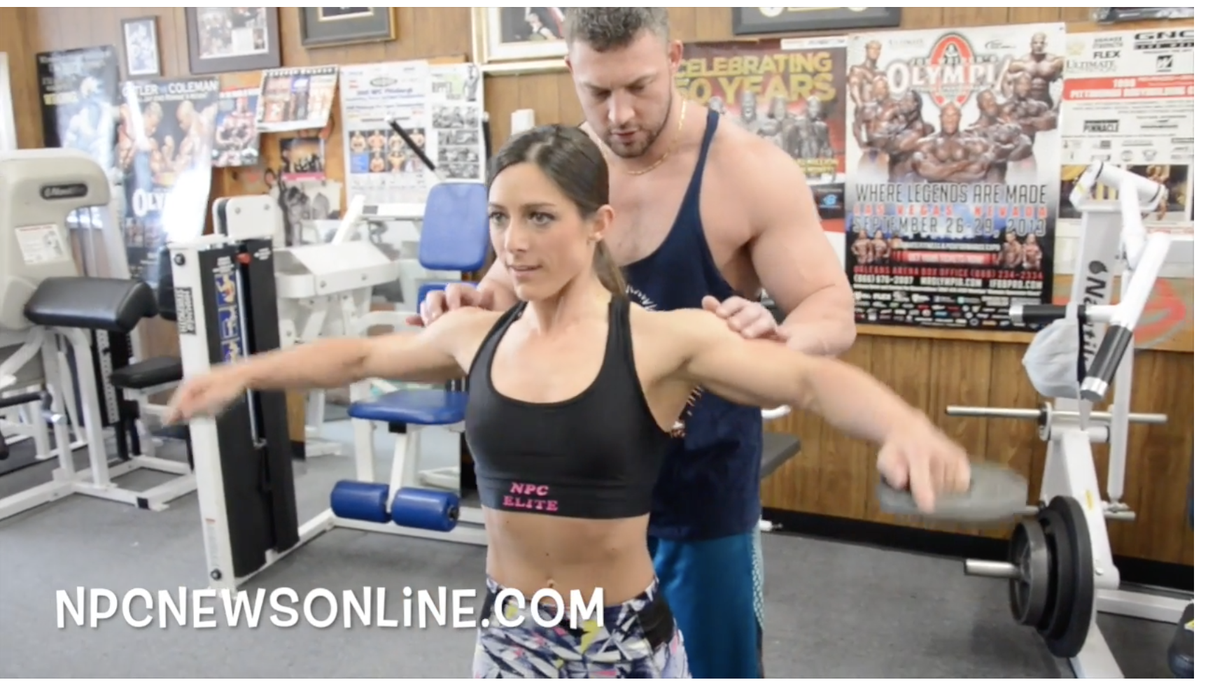 IFBB Fitness Pro Sara Kovach Shoulder Workout With Bill Sienerth.