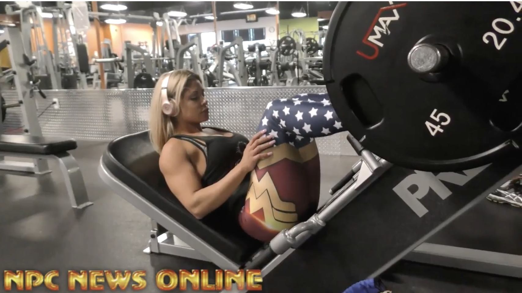 NPC Bikini Competitor Carolina Bravo Leg Workout (English & Spanish)