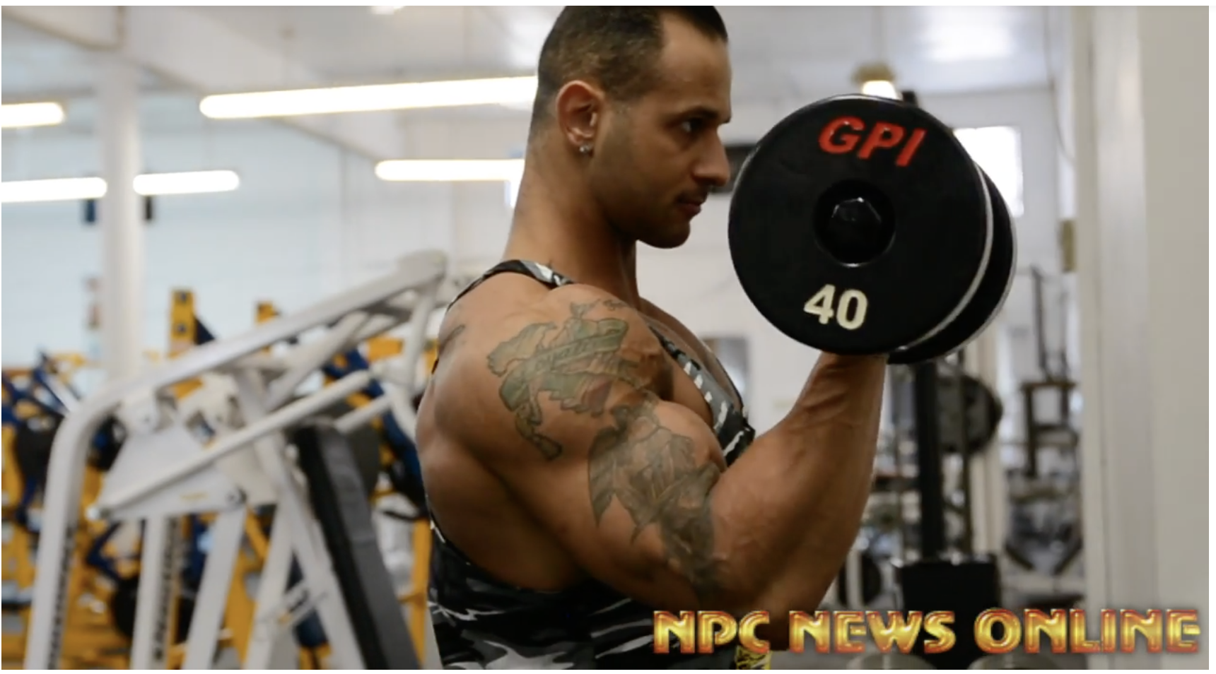 NPC Classic Physique Competitor Greg Scampone Arms Workout For The 2018 Arnold Amateur