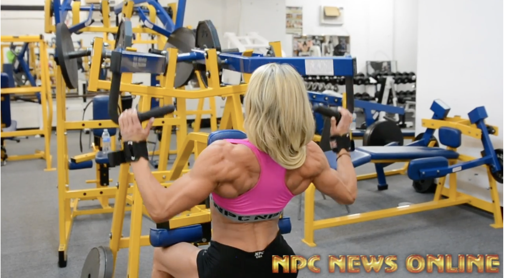 IFBB Fitness Pro Whitney Jones Back Workout For The 2018 Arnold
