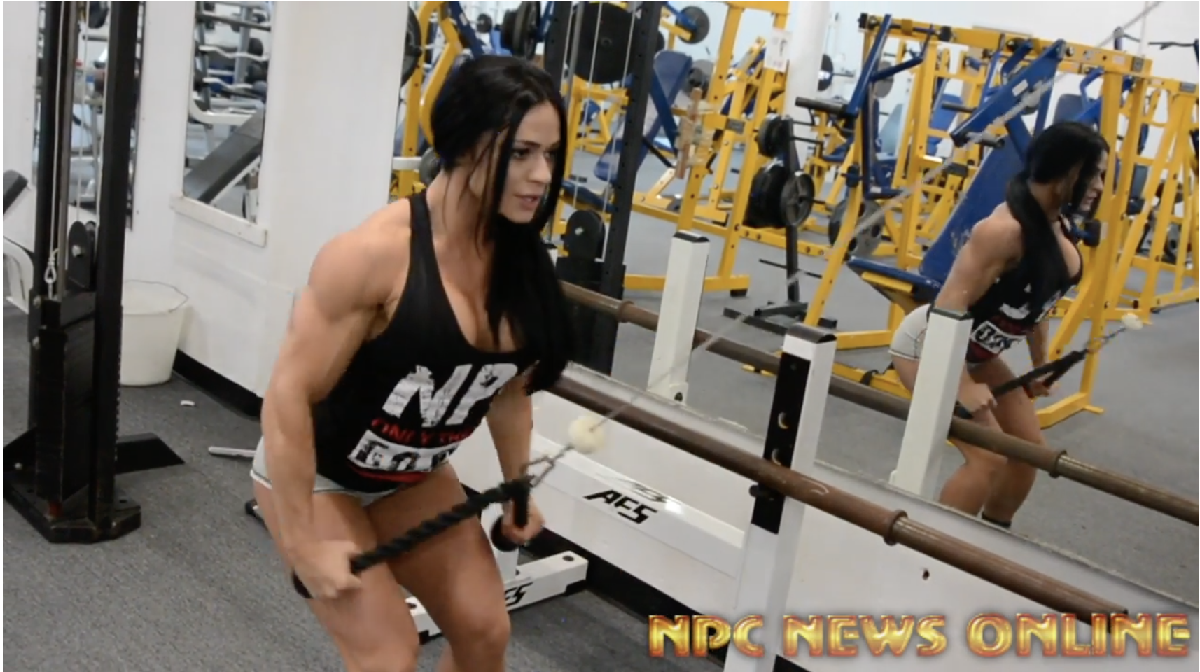 IFBB Figure Pro Ivana Ivusic Back Workout For The 2018 Arnold.