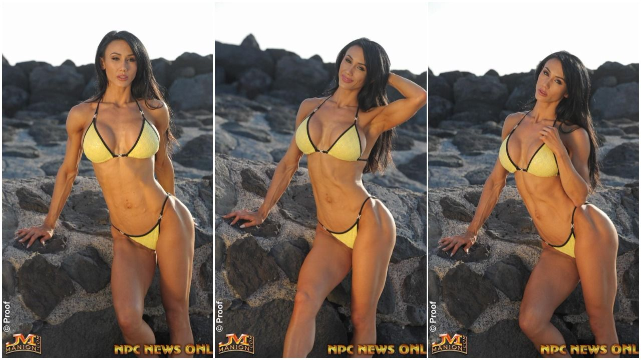 Bikini Beach Bodies: Francesca Lauren In Hawaii Yellow Bikini Photo Gallery