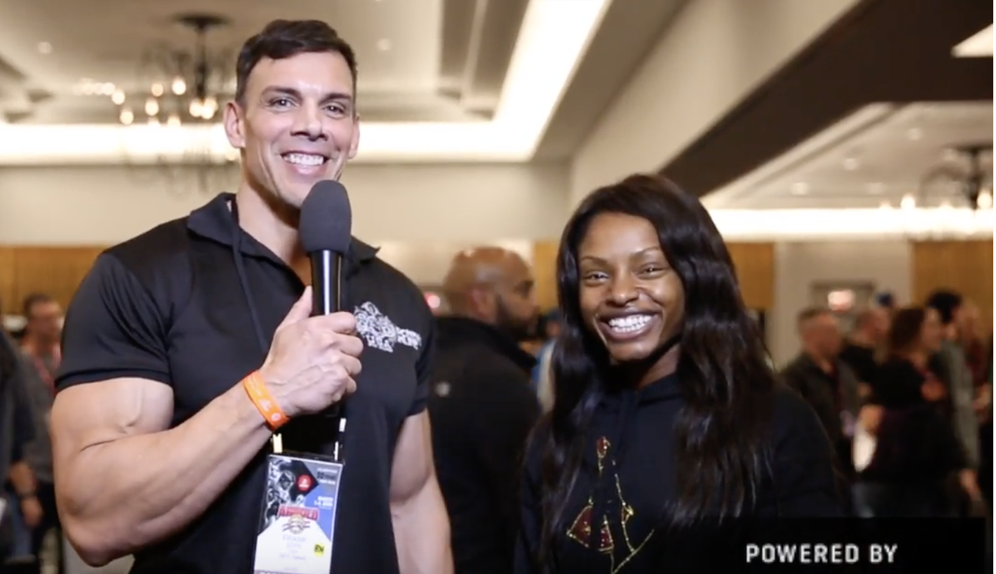 IFBB Figure Olympia Cydney Gillon At the 2018 Arnold  Interviewed by NPC News Online Editor in Chief  Frank Sepe