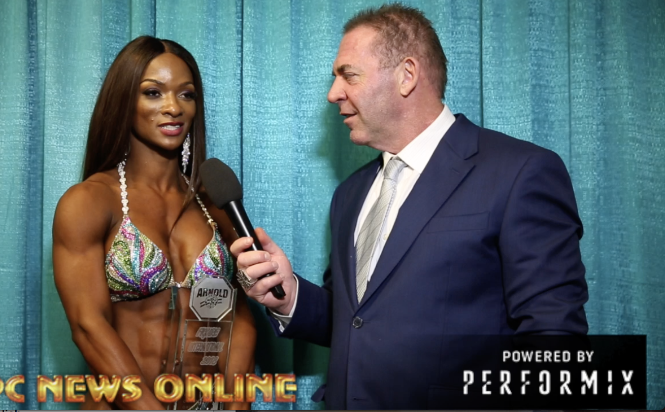 2018 Arnold Figure International Winner Candice Lewis-Carter interviewed by Tony Doherty