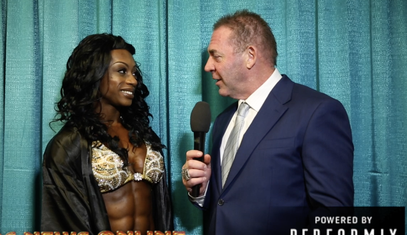 2018 Arnold Women's Physique International Winner Shanique Grant Interviewed by Tony Doherty