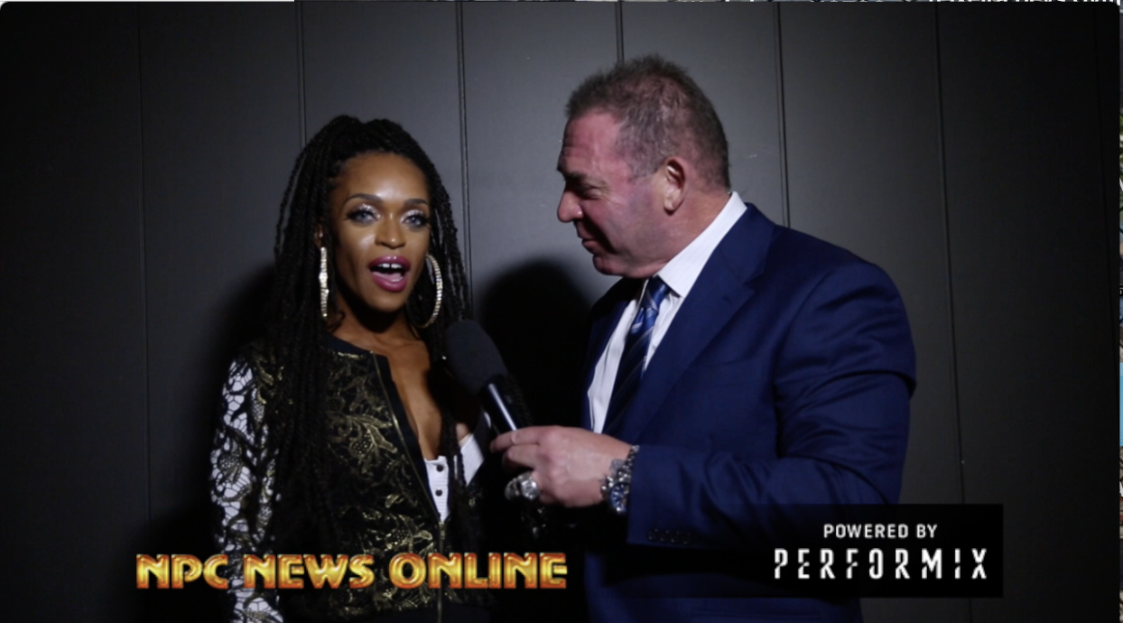 2018 Arnold Amateur Figure Overall Winner Lola Montez Interviewed by Tony Doherty: 1st show Ever Wins Pro Card