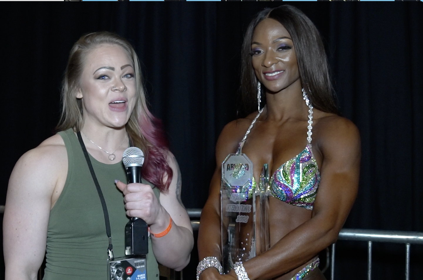 2018 Arnold Figure International Winner Candice Lewis Interview  By Jordan Hartsell For NPC NEWS ONLINE.com