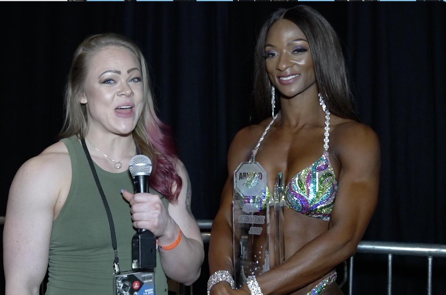 2018 Arnold Figure International Winner Candice Lewis Interview  By Jordan Hartsell For NPC NEWS ONLINE.com