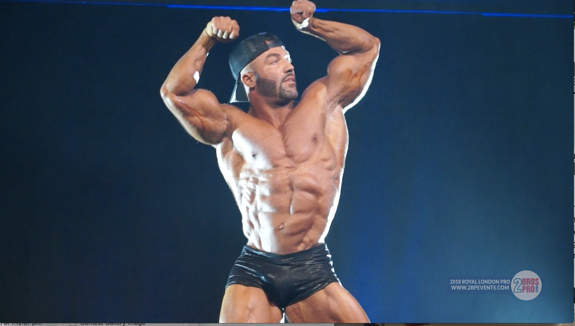 2018 IFBB Royal London Pro:  Nelson Lopez Classic Physique Guest Posing Video : NPC News Online