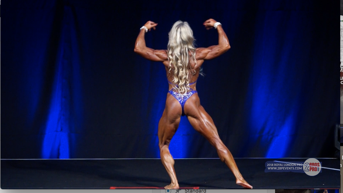 2018 IFBB Royal London Pro Women's Physique Winner Margita Zamolova Posing Routine