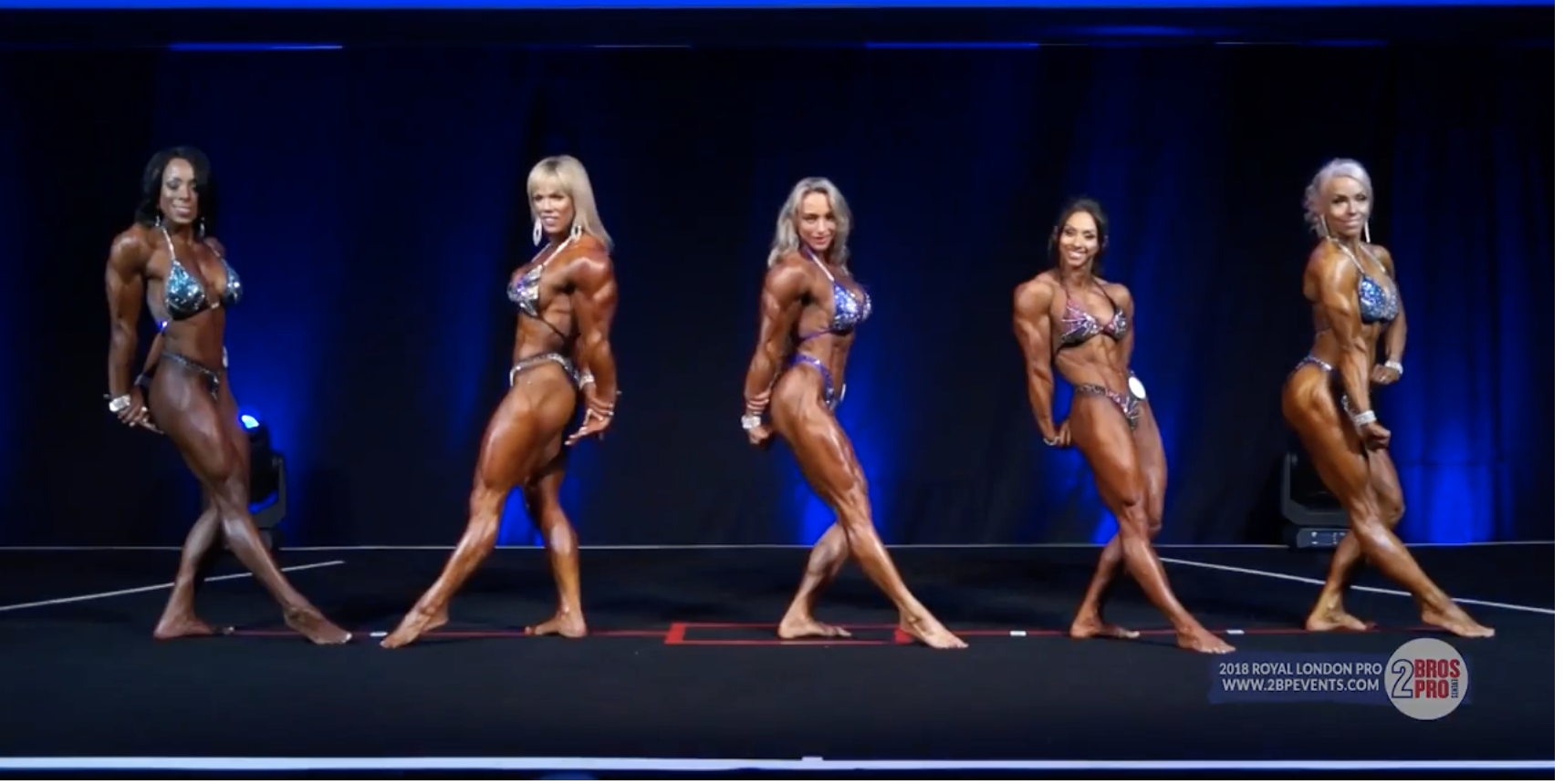 2018 IFBB Royal London Pro Women's Physique Mandatory Poses & Trophy Presentation Video