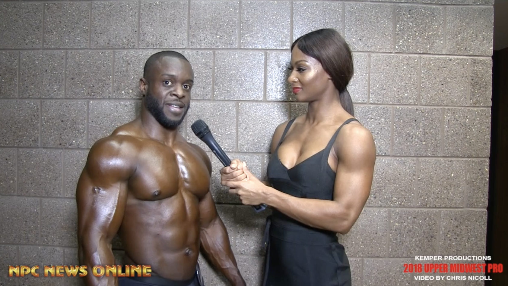 2018 IFBB Upper Midwest Pro Men's Classic Physique Competitor Keith Lanier Interviewed By IFBB Pro Candice Lewis Carter