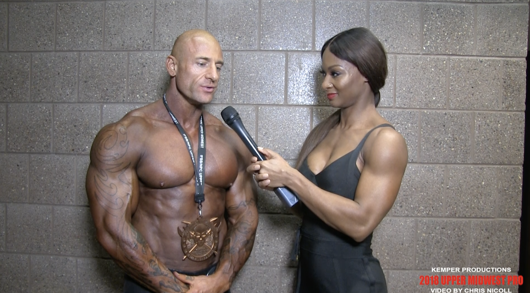 2018 IFBB Upper Midwest Pro Men's Classic Physique 3rd Place Winner Russ Allen Interviewed By IFBB Pro Candice Lewis Carter.