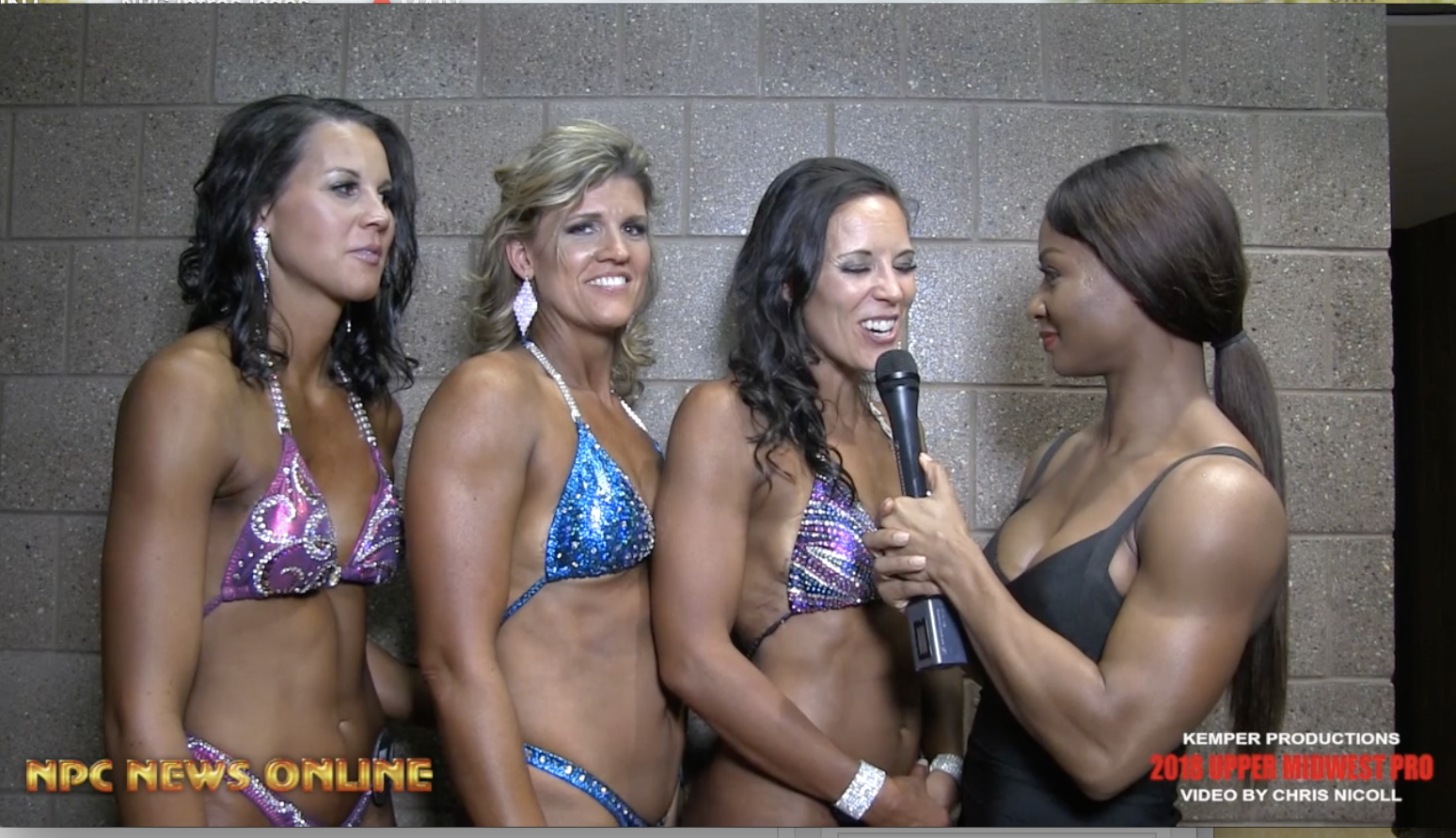 2018 NPC Midwest Classic Women's Figure Competitors Interviewed By IFBB Pro Candice Lewis Carter