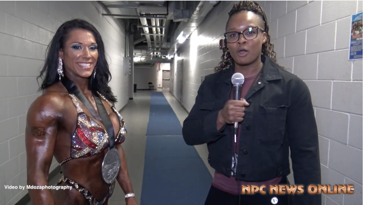 2018 NPC Border Klash Women's Physique Overall Alyssa Isley Interviewed By IFBB Pro Essence Monet
