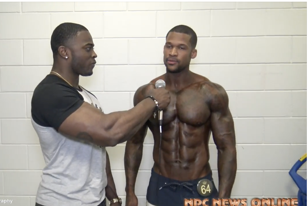 2018 NPC Border Klash  NPC Mens Physique Overall Clarence McSpadden Interviewed by Kenneth Owens