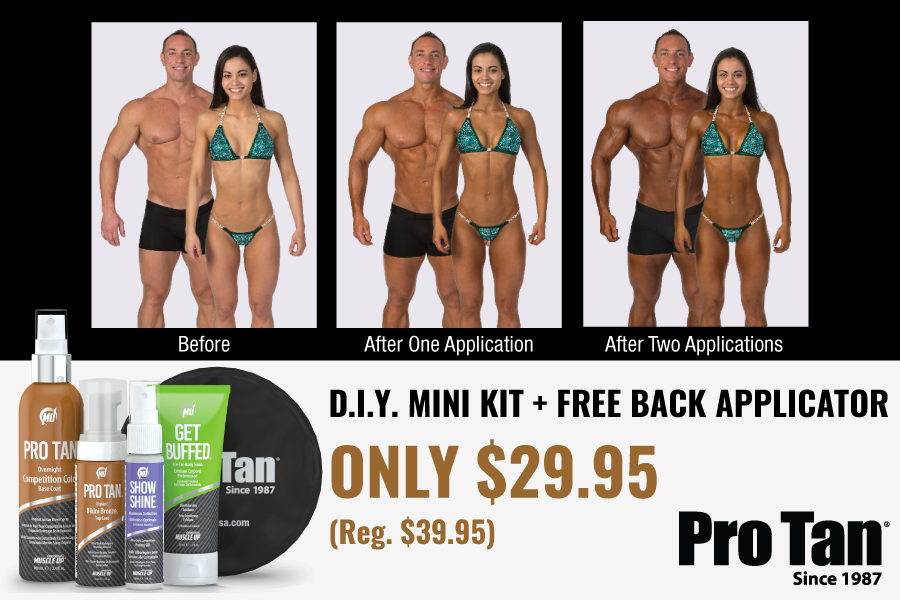 D.I.Y. Competition Color video featuring IFBB Bikini Pro and Pro Tan® Athlete Casey Samsel