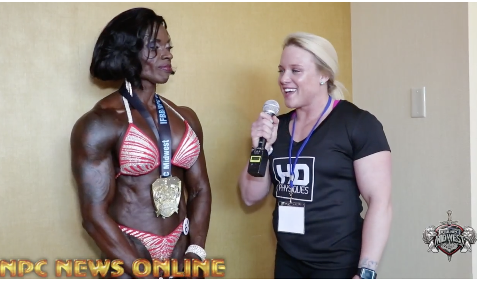 2018 IFBB St.Louis Pro  Women's Masters Physique Winner Candice Carr