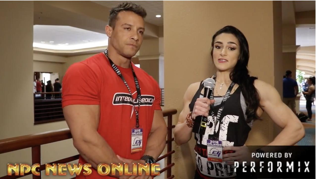 2018 IFBB Europa Orlando: IFBB Pro DIOGO FERREIRA MONTENEGRO Interview With IFBB Pro Natália Abraham Coelho