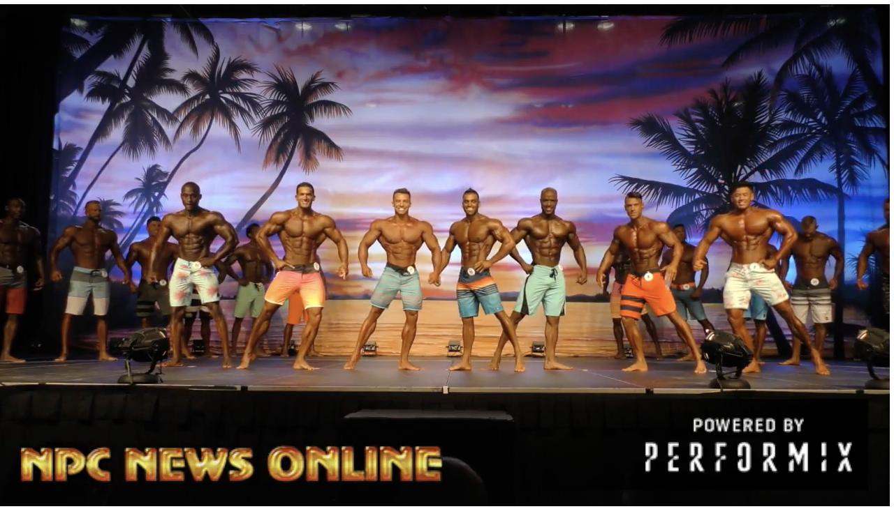 2018 IFBB Europa Orlando Prejudging: Men's Physique PreJudging