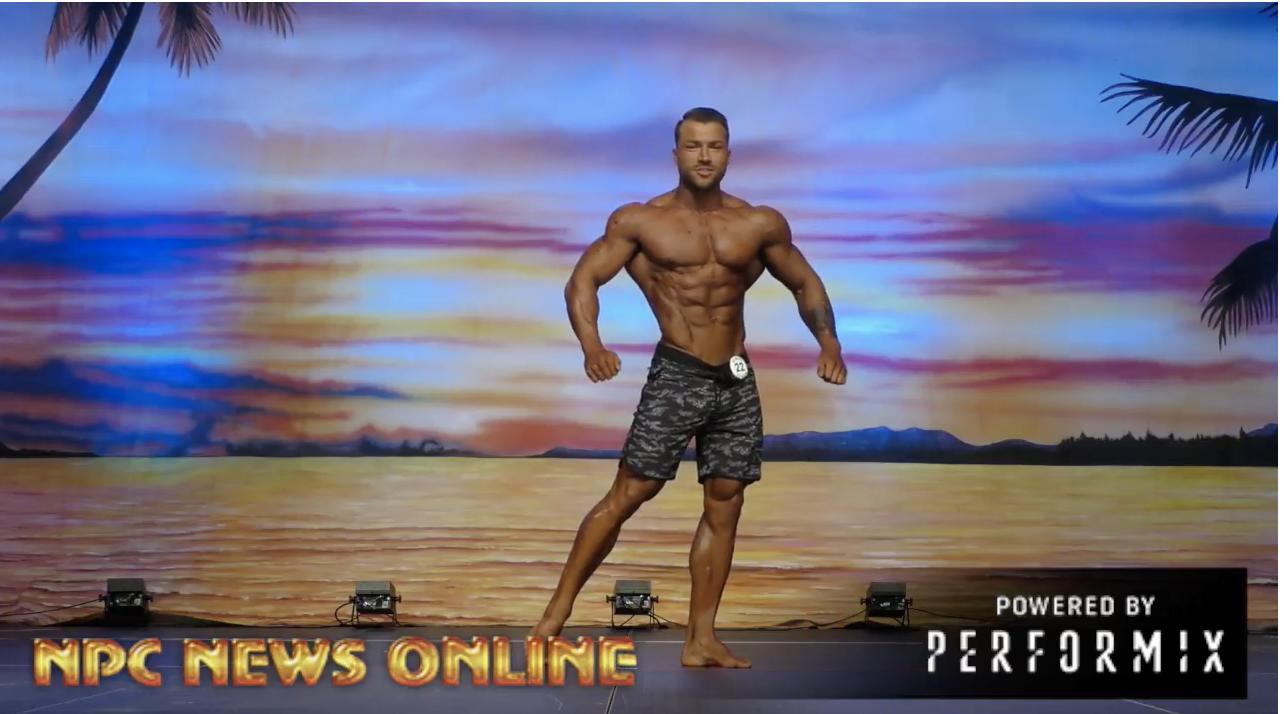 2018 IFBB Europa Orlando Prejudging: FILIP STEFLOVIC Men's Physique Pro Posing Routine.
