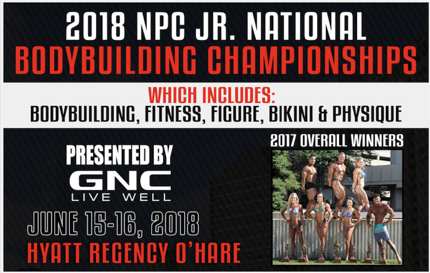 2018 NPC Jr. National Bodybuilding Championships: JUNE 15-16, 2018