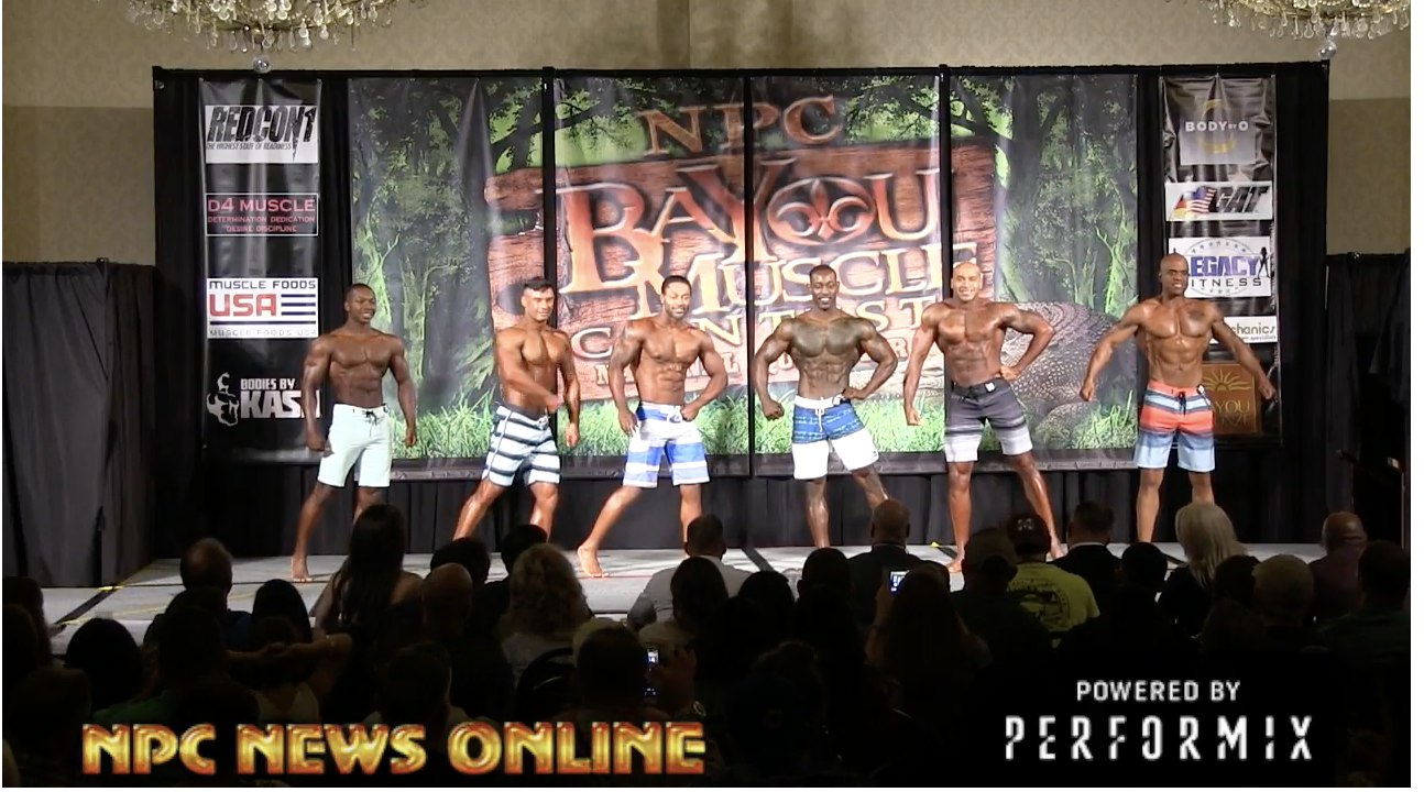 2018 NPC BAYOU MUSCLE MEN'S PHYSIQUE OVERALL