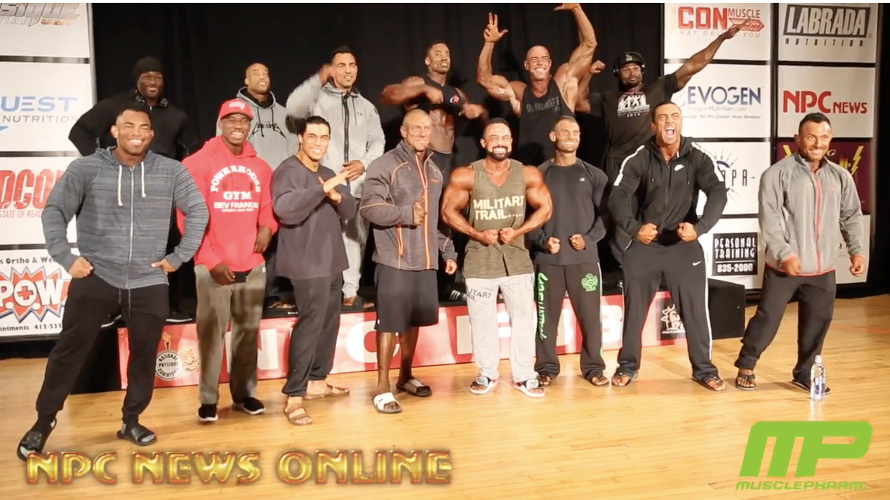 2018 IFBB Pittsburgh Pro Men's Classic Physique Athlete's Meeting Video