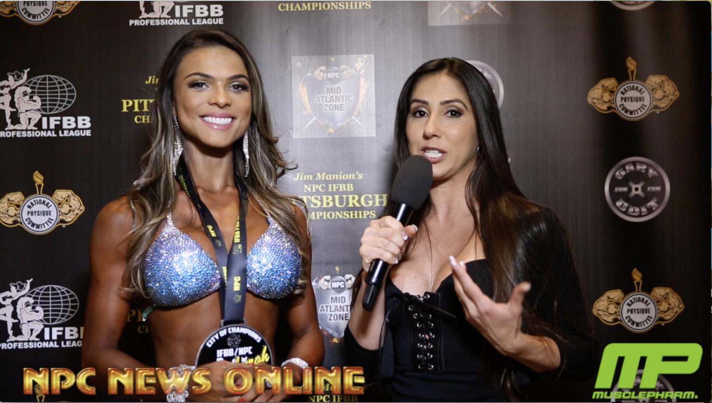 2018 IFBB Pittsburgh Pro Bikini Winner Elisa Pecini Interviewed By IFBB Bikini Olympia Champion Angelica Teixeira