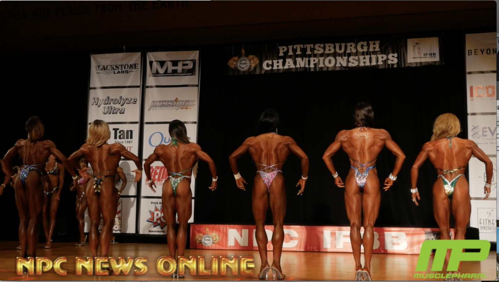 2018 IFBB Pittsburgh Pro Womens' Figure Prejudging Video