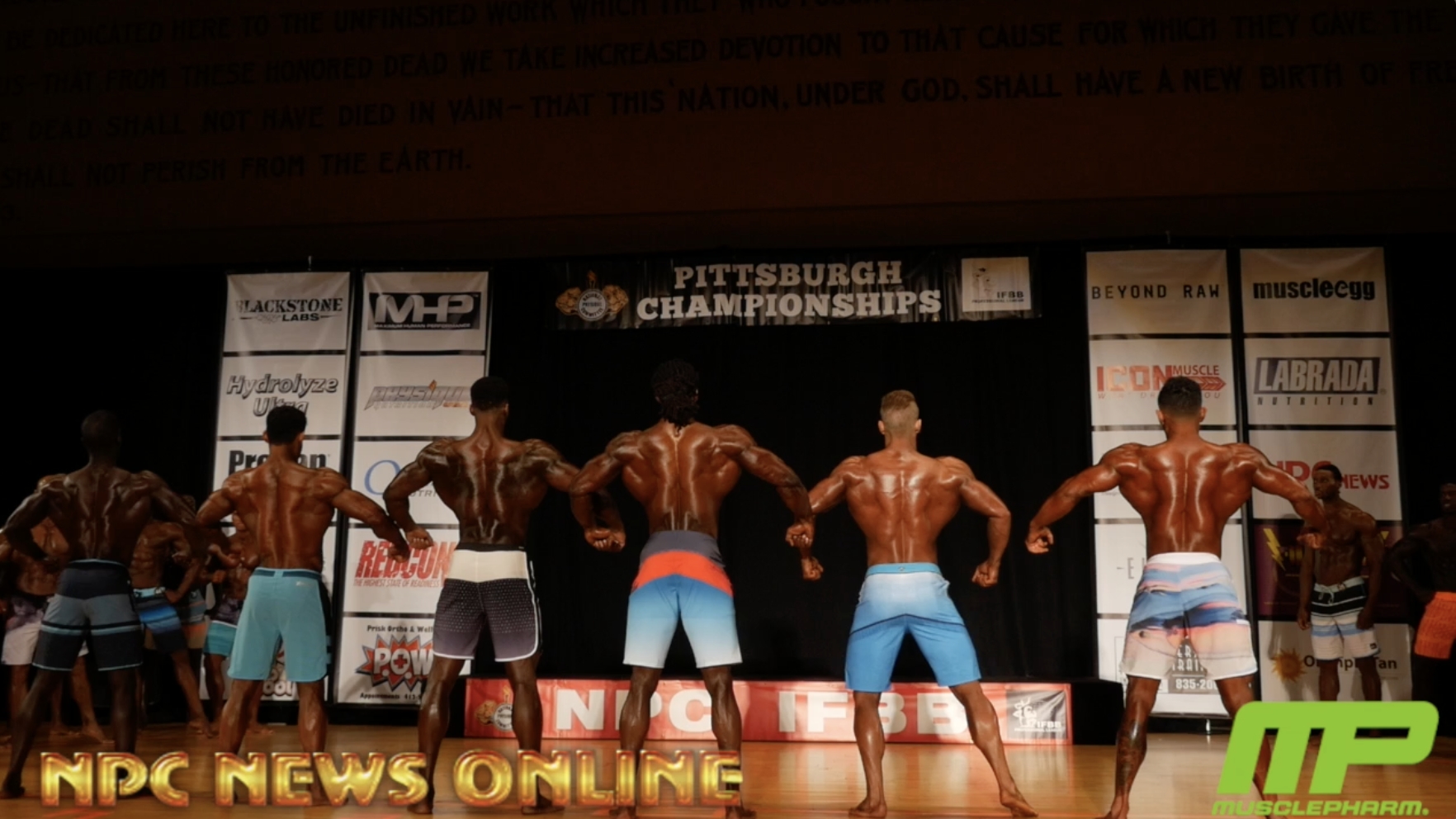 2018 IFBB Pittsburgh Pro Men's Physique Prejudging Video