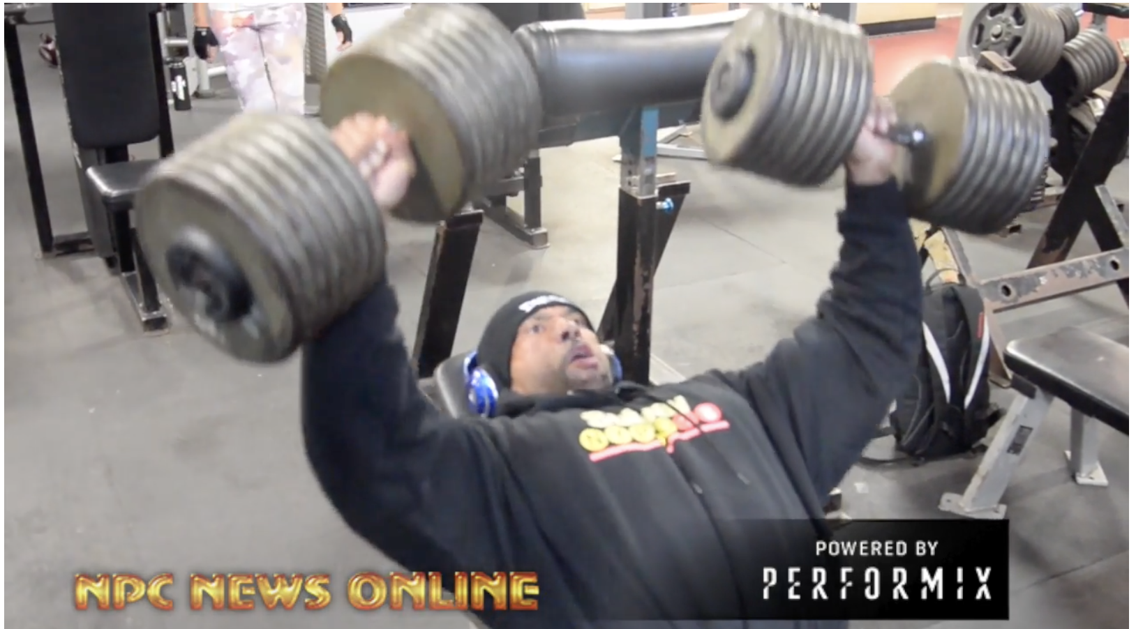 IFBB Pro Juan Morel 180 Pound Dumbbell Incline Chest Presses 2 days Out From The 2018 IFBB NY Pro