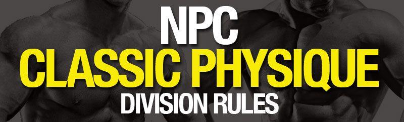 Classic Physique Rules   NPC News Online